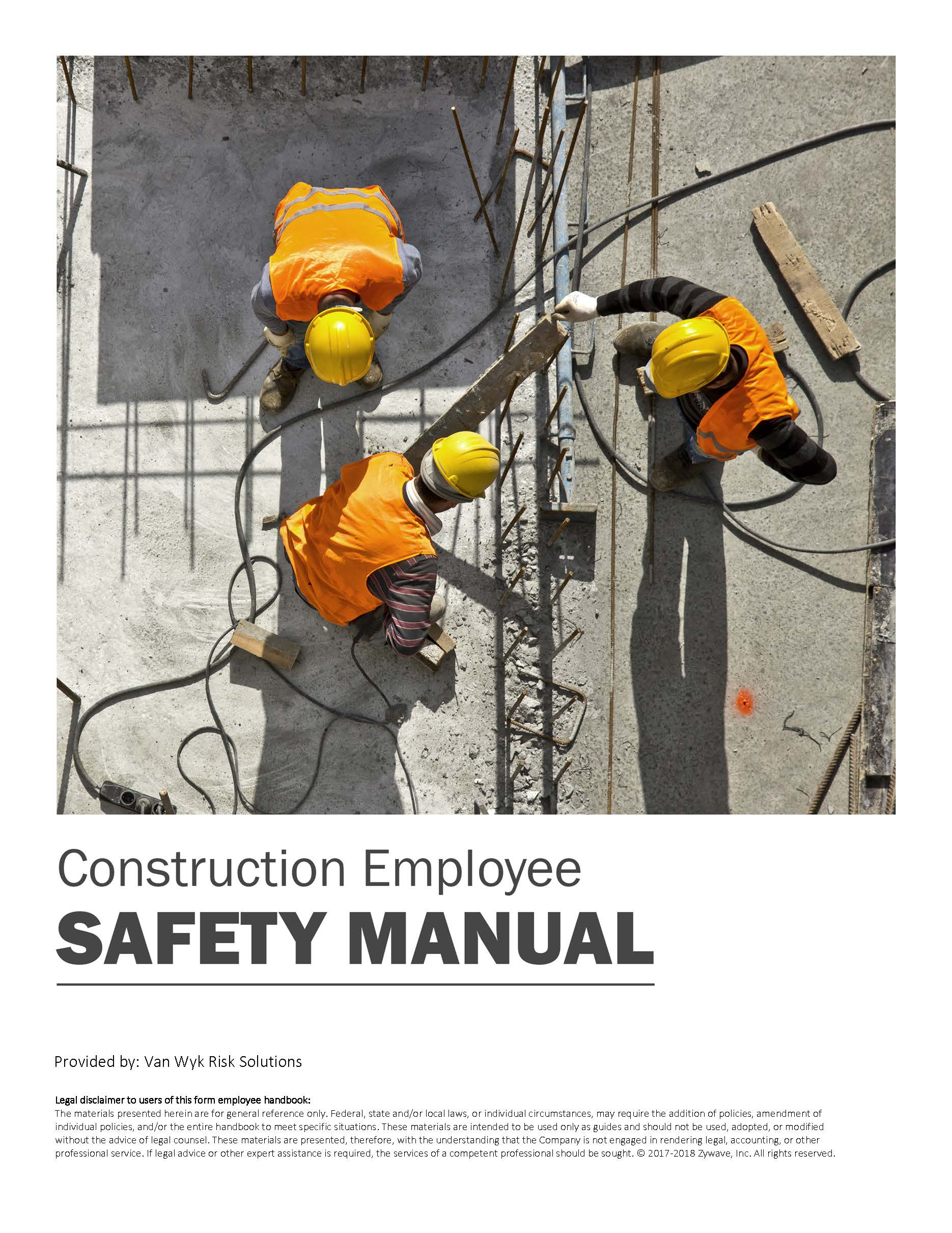 Construction Employee Safety Manual