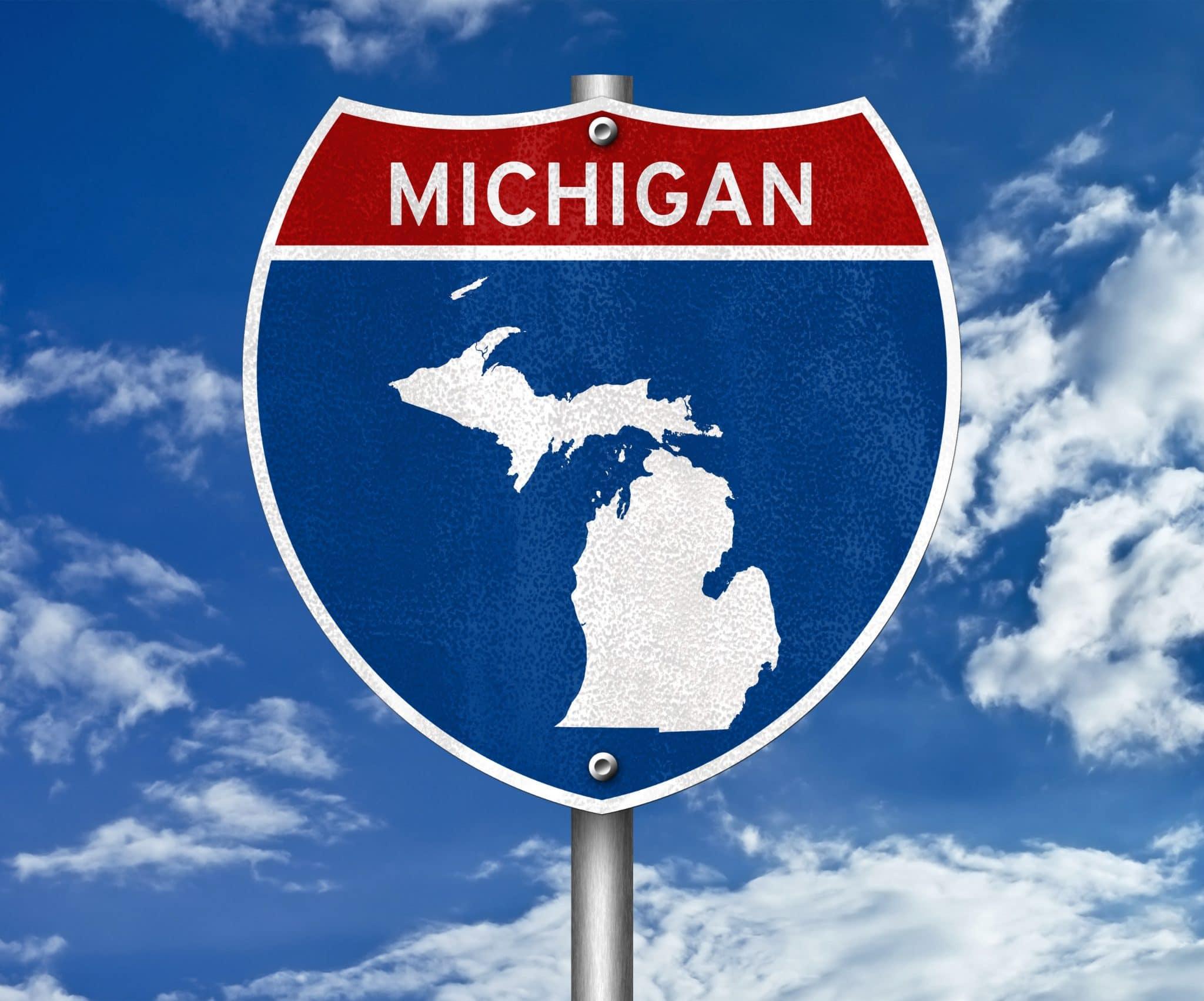 Free download Michigan Lake Huron sunset rock trees